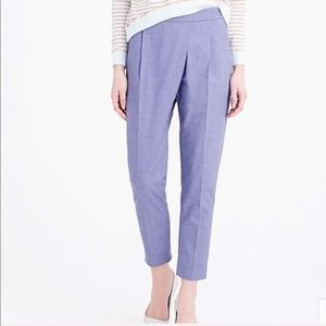 J Crew Crossover Pants in Chambray Blue